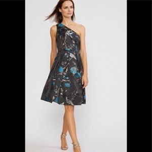 NWT CYNTHIA ROWLEY One Shoulder Jacquard Dress 0